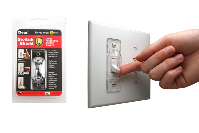 Dual Option Wall Switch Guards (3 Pack) Clear Toggle Style